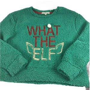 Wallflower What the Elf Sequin Fuzzy Ugly Sweater